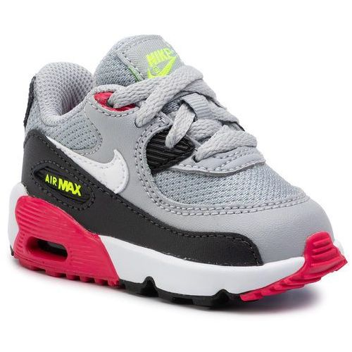 Buty NIKE - Air Max 90 Mesh Bt 833422 027 Wolf Grey/White/Rush Pink/Volt