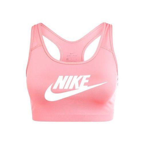 Nike Performance PRO CLASSIC SWOOSH FUTURA Biustonosz sportowy sunblush/white