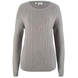 Sweter z dłuższymi bokami, długi rękaw ciemnoniebieski, Bonprix, 32-50