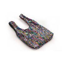 Urocza mała torebka z cekinami - kolorowa