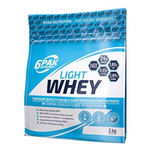 6pak light whey - 2000g - strawberry