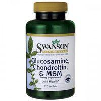 Swanson Glukozamina Chondroityna & MSM - (120 tab) (0087614110097)