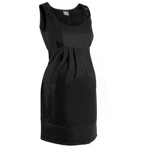 Sukienka ciążowa biznesowa, w kratę bonprix czarny, kolor czarny