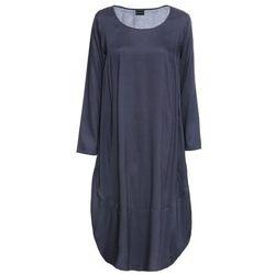 Sukienka bonprix czarno-kremowy, kolor niebieski
