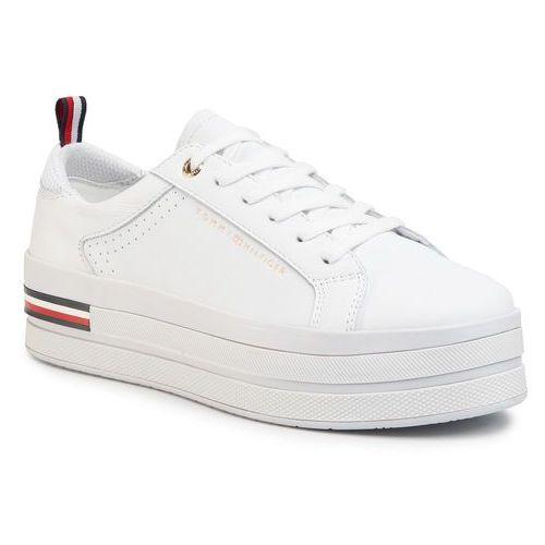 Sneakersy TOMMY HILFIGER - Modern Flatform Sneaker FW0FW04851 White YBS