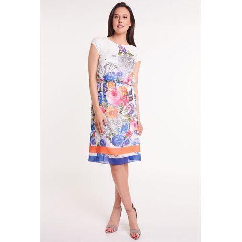 4ccd0087eef624 Zobacz w sklepie Lekka sukienka w kolorowe kwiaty, 1 rozmiar. L'ame de Femme
