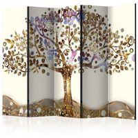 Parawan do mieszkania 5-częściowy - Złote drzewo II 225 szer. 172 wys.