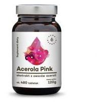 Tabletki ACEROLA PINK 25% EKSTRAKT Z OWOCÓW 480 TABLETEK