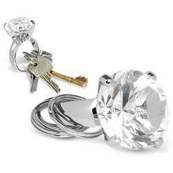 Diamentowy brelok - przeźroczysty - przeźroczysty