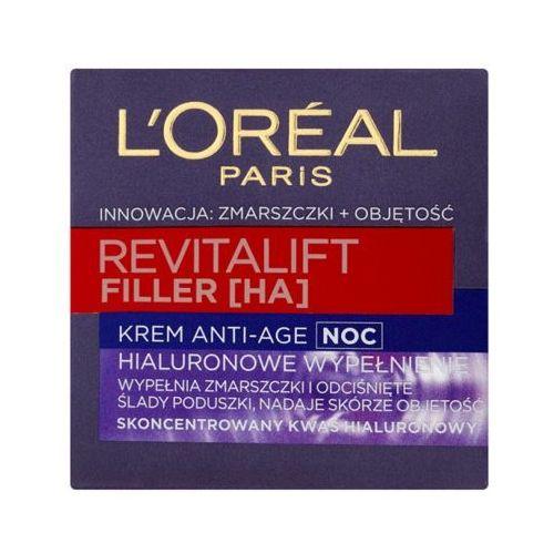 LOREAL Paris 50ml Revitalift Filler HA Krem przeciwzmarszczkowy na noc