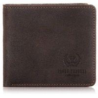 Brązowy elegancki portfel męski cienki młodzieżowy