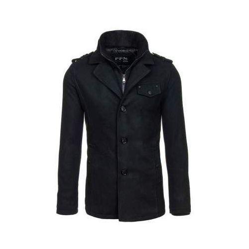 Płaszcz męski czarny Denley 8853, kolor czarny