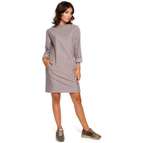 021c3c45a9c5bd Zobacz w sklepie Be B096 sukienka z kieszeniami na przodzie - szara