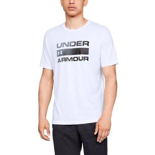 Under armour koszulka ua team issue wordmark ss biała - biały