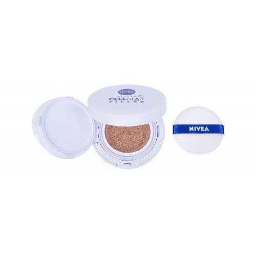 Nivea hyaluron cellular filler 3in1 care cushion spf15 podkład 15 g dla kobiet 03 dark - Najtaniej w sieci