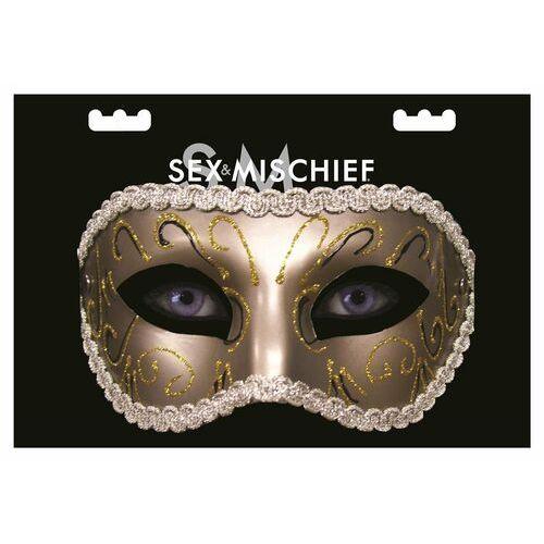 Sex&mischief Maska w stylu karnawałowym s&m grey masquerade mask - Godna uwagi promocja