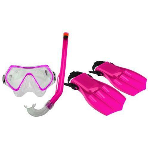 Waimea Zestaw do nurkowania Junior maska/rurka/płetwy 34-38 różowo czarny 88DS