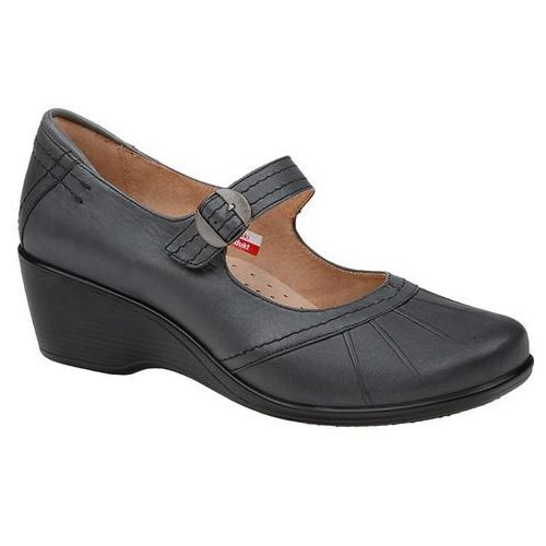 Półbuty na koturnie buty AXEL Comfort 1147 Grafit, kolor niebieski