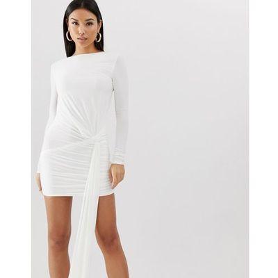 0c3118855a suknie sukienki asos club l bordowa cekinowa mini kolekcja wiosna ...