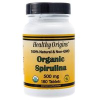 Healthy Origins Organiczna Spirulina - 180 tabletek