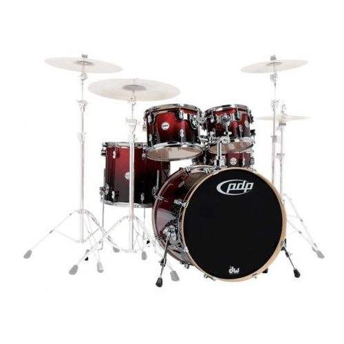 PDP by DW Shell set Concept Maple, Red to Black Sparkle