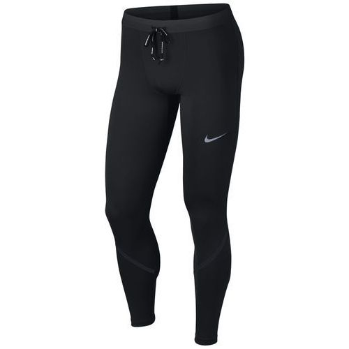 leginsy męskie do biegania m nk tech power-mobility tight black black reflective silv m marki Nike