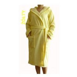 Szlafrok termofrota - żółty z kapturem marki Dolce sonno