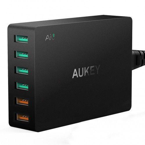 AUKEY PA-T11 ultraszybka ładowarka sieciowa 6xUSB Quick Charge 3.0 15.6A 60W