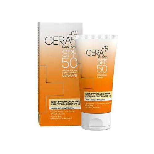 Cera+ solutions krem uva/uvb spf50 skóra sucha i wrażliwa 50 ml marki Synoptis pharma