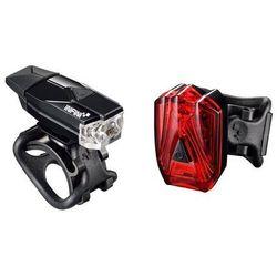 mini lava set 261w+260rb - zestaw oświetlenia, czarny marki Infini