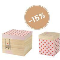 Zestaw dwóch pudełek w czerwone kropki -  marki Bloomingville