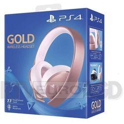 playstation wireless headset gold (różowe złoto) marki Sony