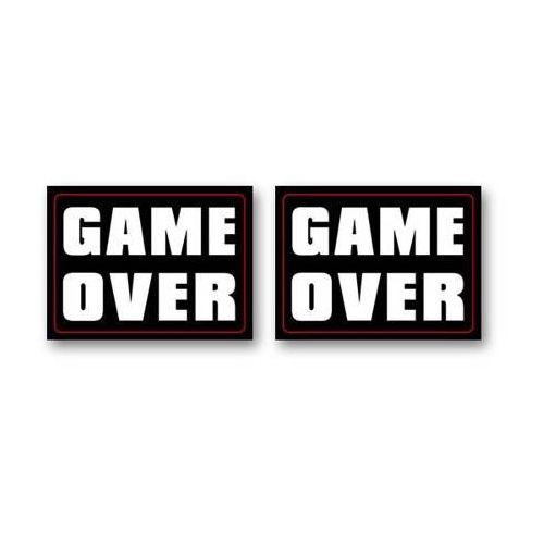 Dp Naklejki na buty game over - 2 szt. (5907509920424)