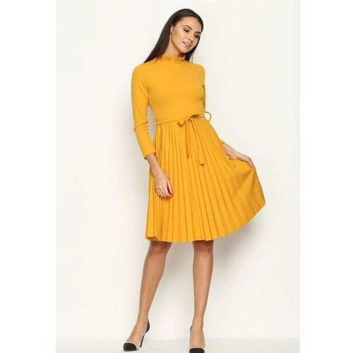 Żółta Sukienka Story Of Vogue, kolor żółty