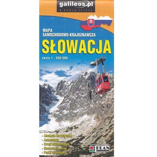 Praca zbiorowa. Słowacja. Mapa samochodowo-krajoznawcza 1:500 000, Lider Serwis