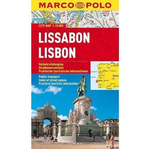 Lizbona / Lisboa 1:15 000. Laminowany plan miasta. Marco Polo, oprawa miękka