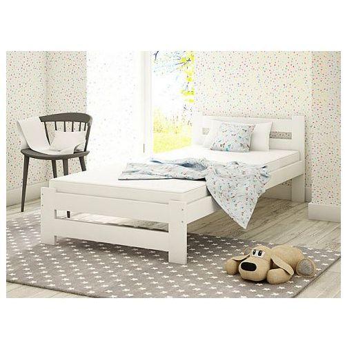 Jednoosobowe łóżko Marsel 90x200 Białe Producent Elior