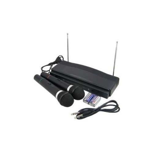 Zestaw do karaoke: stacja + 2 bezprzewodowe mikrofony. marki Kfs technology
