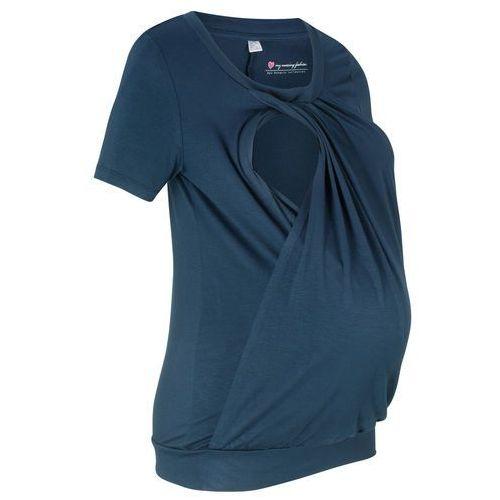 Shirt ciążowy i do karmienia, krótki rękaw ciemnoniebieski marki Bonprix