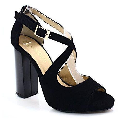 Tymoteo 2774 czarne - sandały na słupku - czarny