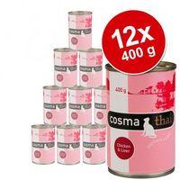 Pakiet thai, 12 x 400 g - kurczak z wątróbką drobiową marki Cosma