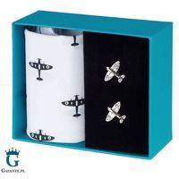 Zestaw prezentowy spinki i chusteczki samolot spitfire hs-12
