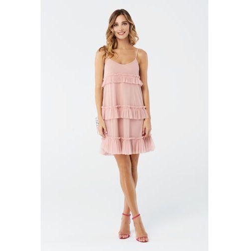 Sukienka Begonia w kolorze różowym, kolor różowy