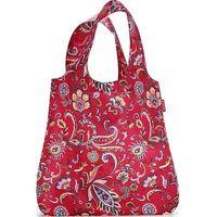 Torba na zakupy maxi mini shopper w kwiaty rubinowa