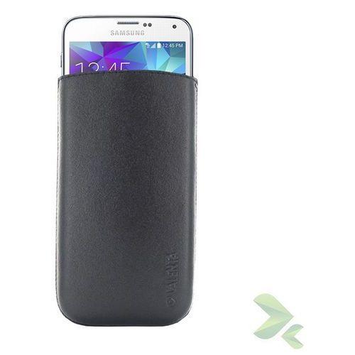 Rovens.pl Valenta Pocket Classic - Skórzane etui wsuwka Samsung Galaxy S5/S5 Neo, Sony Xperia Z i inne (czarny), kolor czarny
