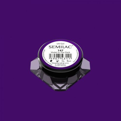 violet in the dark kolorowy lakier żelowy (147) marki Semilac