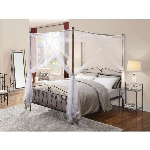 łóżko Z Baldachimem Marquise 140 190 Cm Metal O Wyglądzie Kutego żelaza Vente Unique