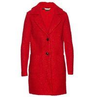 Płaszcz z przędzy boucle bonprix czerwony