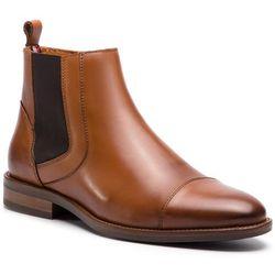 Kozaki - essential leather toecap chelsea fm0fm02140 winter cognac 906, Tommy hilfiger, 42-45