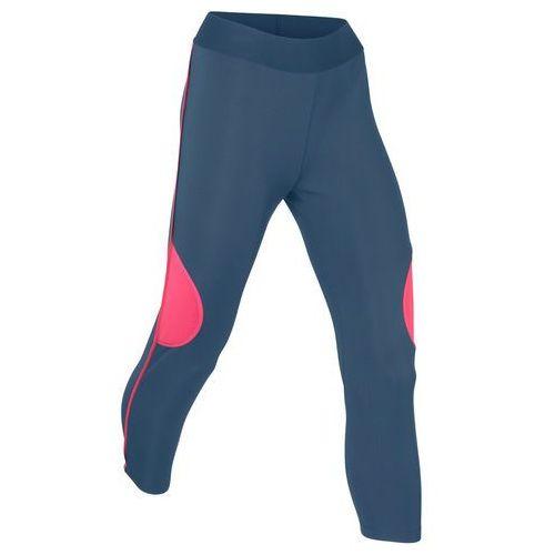 Legginsy sportowe 3/4, Level 1 bonprix ciemnoniebiesko-jeżynowy, kolor niebieski
